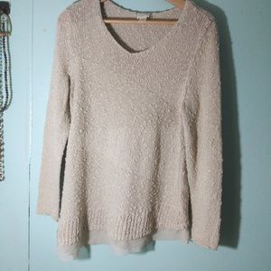 Chico's sparkly sweater beige size 2
